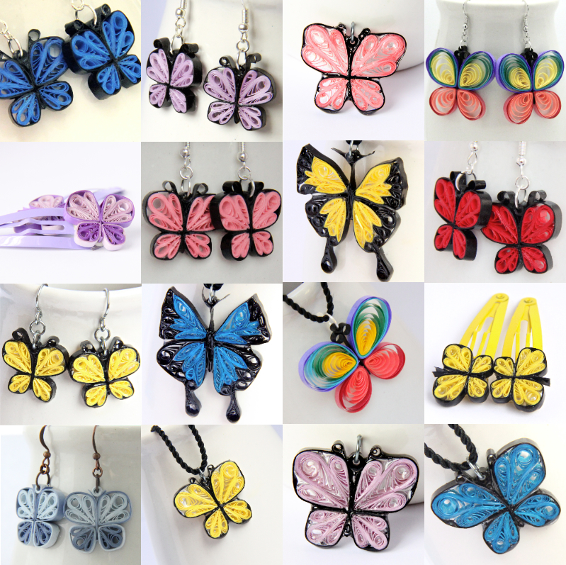 Quilling Earring Designs Butterfly : pendant Honey s Quilling