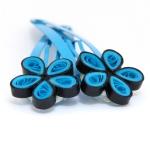 flower turquoise black 4