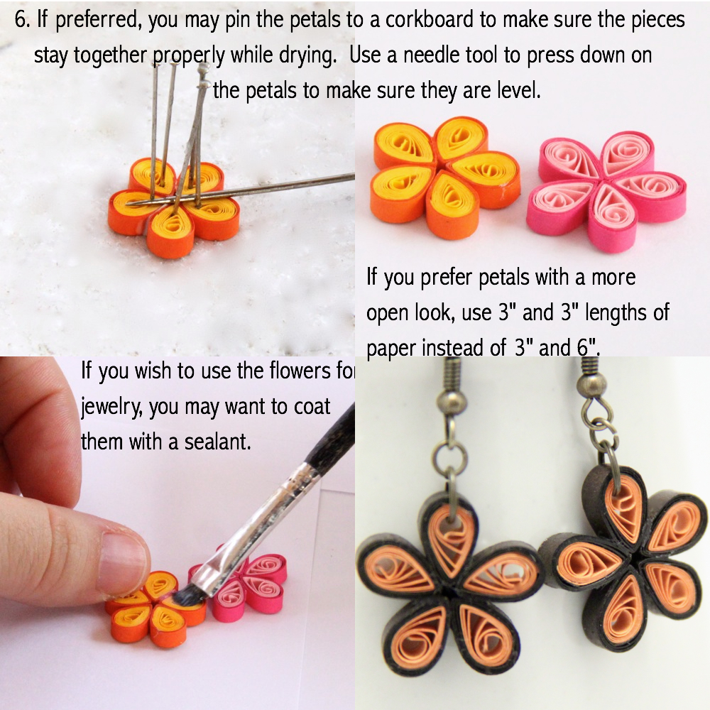 Quilling Papers Earrings: Make Your Own Paper Quilled Daisy Earrings