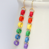 Make your own paper chain quilling bead earrings honey 39 s for How to make your own quilling paper