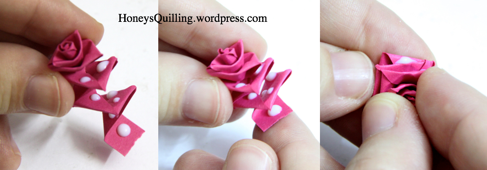 Stylish clothes paper quilling rose mightylinksfo