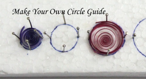Make Your Own Paper Quilling Circle Sizing Guide Board - Honey's Quilling