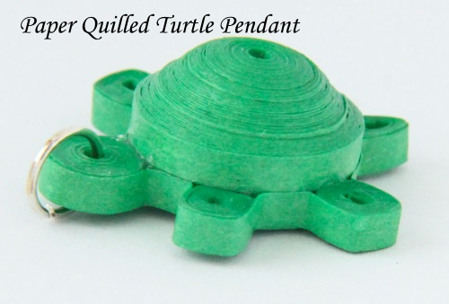 Free Tutorial for 3D Miniature Paper Quilled Turtle Pendant - Honey's Quilling